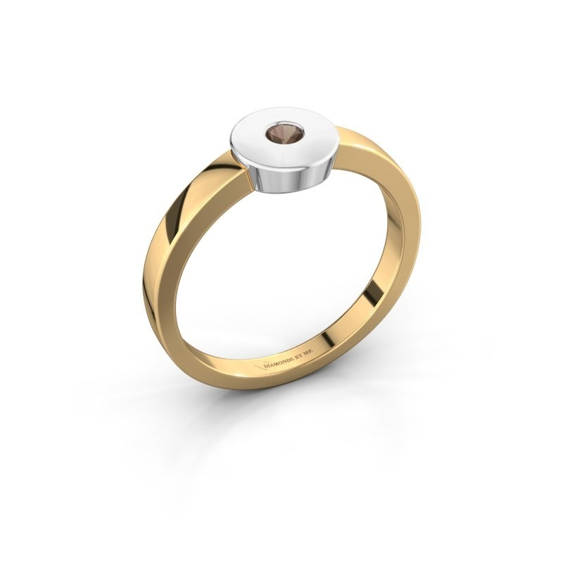 Ring Elisa 585 goud rookkwarts 3 mm