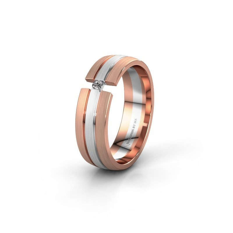 Trouwring WH0402L26AM 585 witgoud diamant ±6x1.7 mm