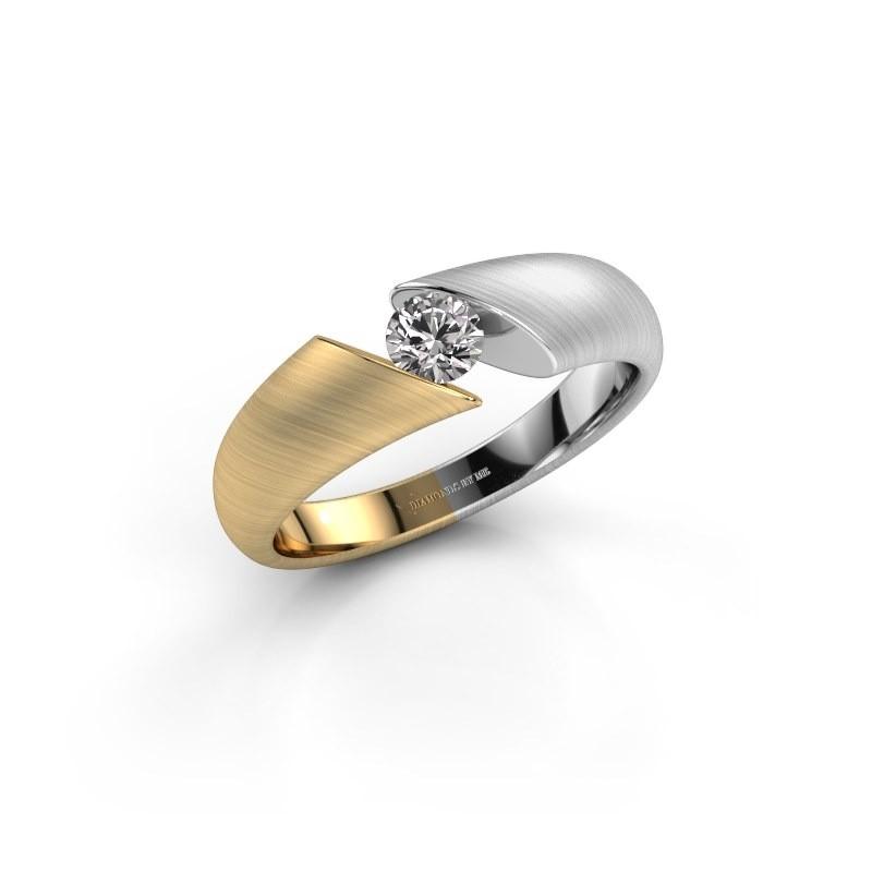 Modern Gold Verlobungsring Hojalien 1 Mit Diamant