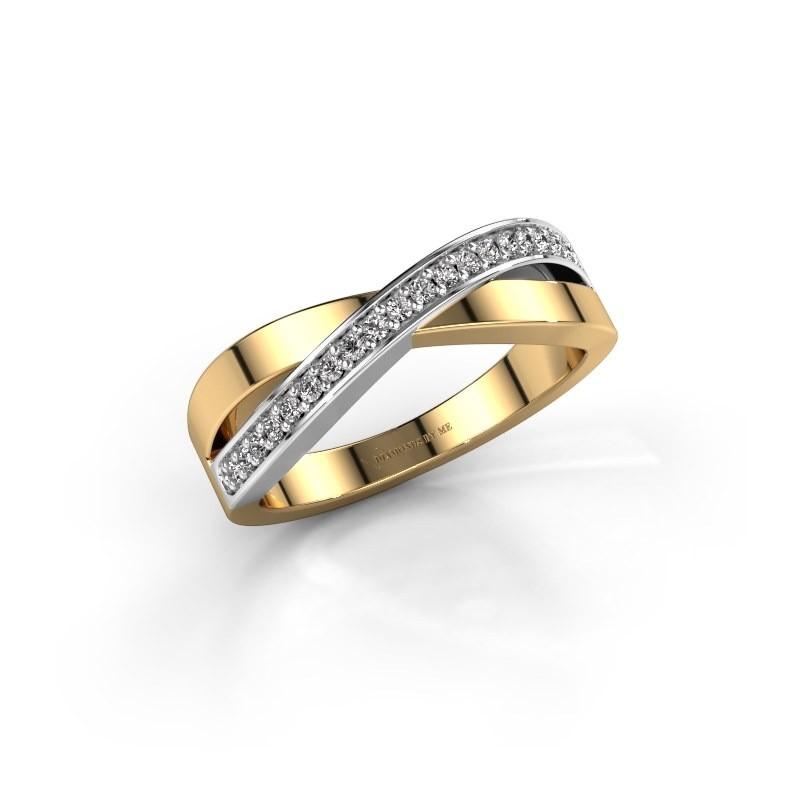 Ring Kaley 585 goud diamant 0.143 crt