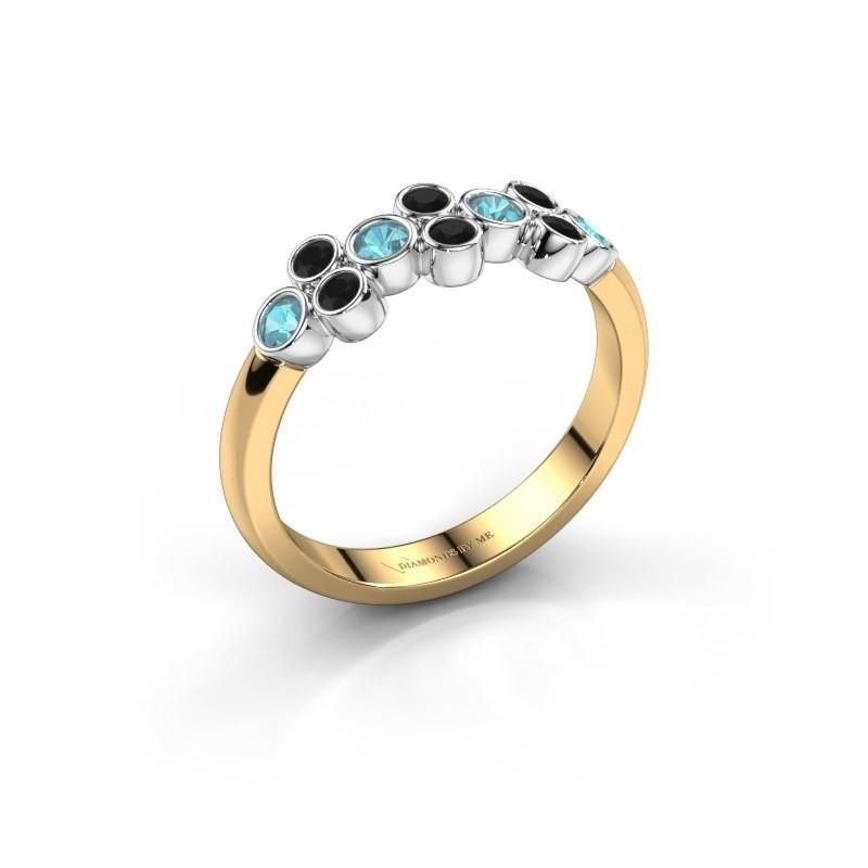 Ring Kayleigh 585 goud blauw topaas 2.4 mm