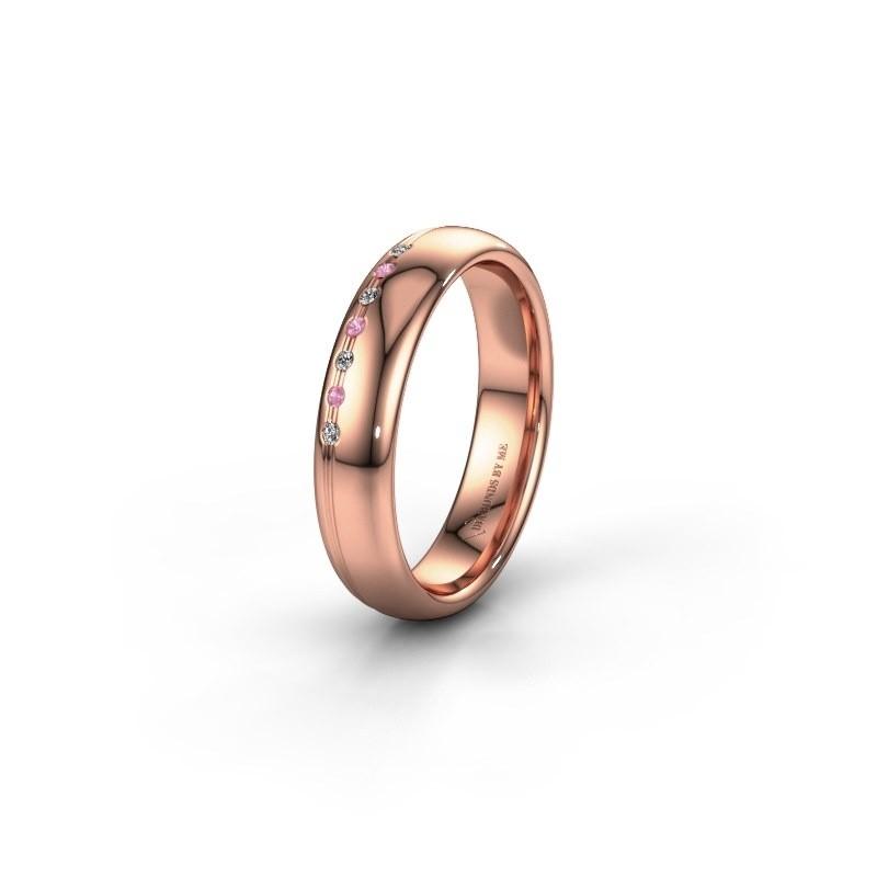 Vriendschapsring WH2144L34A 585 rosé goud roze saffier ±4x1.7 mm