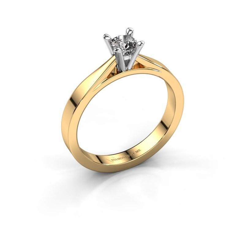 Aanzoeksring Catrina 585 goud diamant 0.25 crt