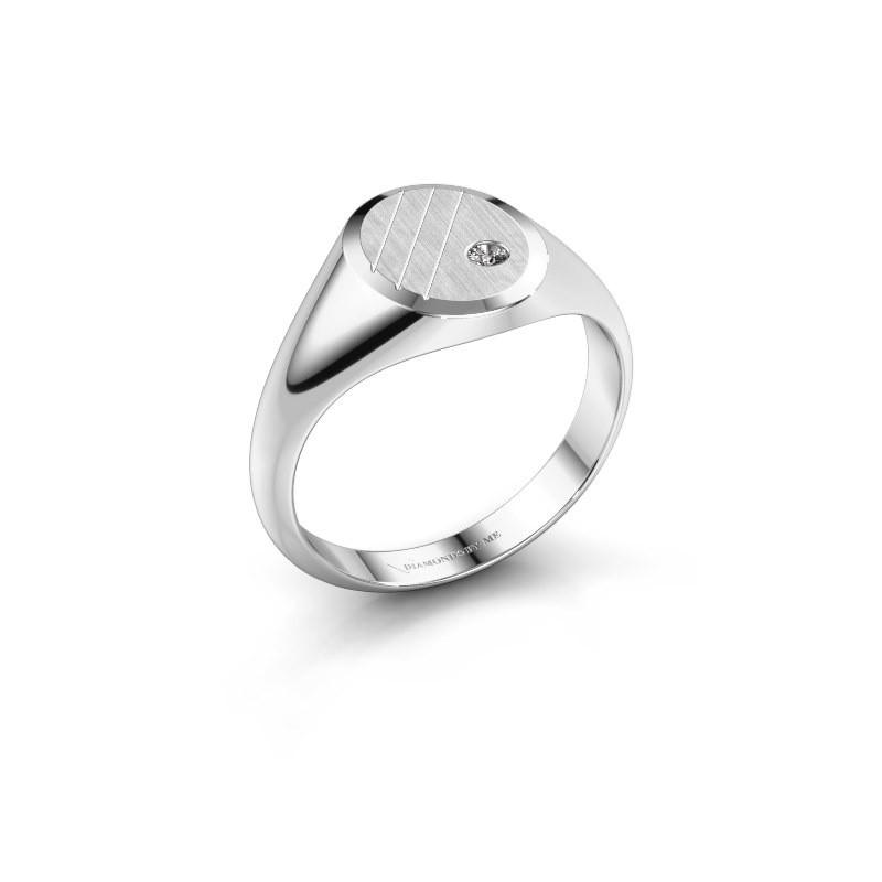 Pinkring Wesley 1 585 witgoud diamant 0.03 crt