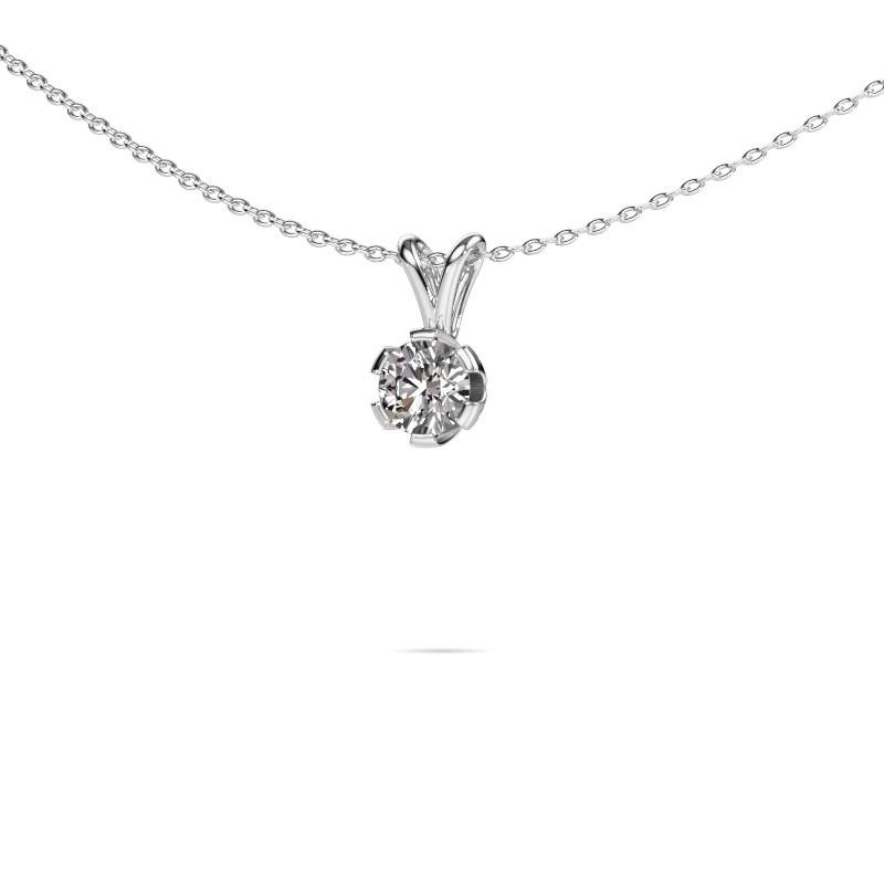 Ketting Julia 585 witgoud diamant 0.50 crt