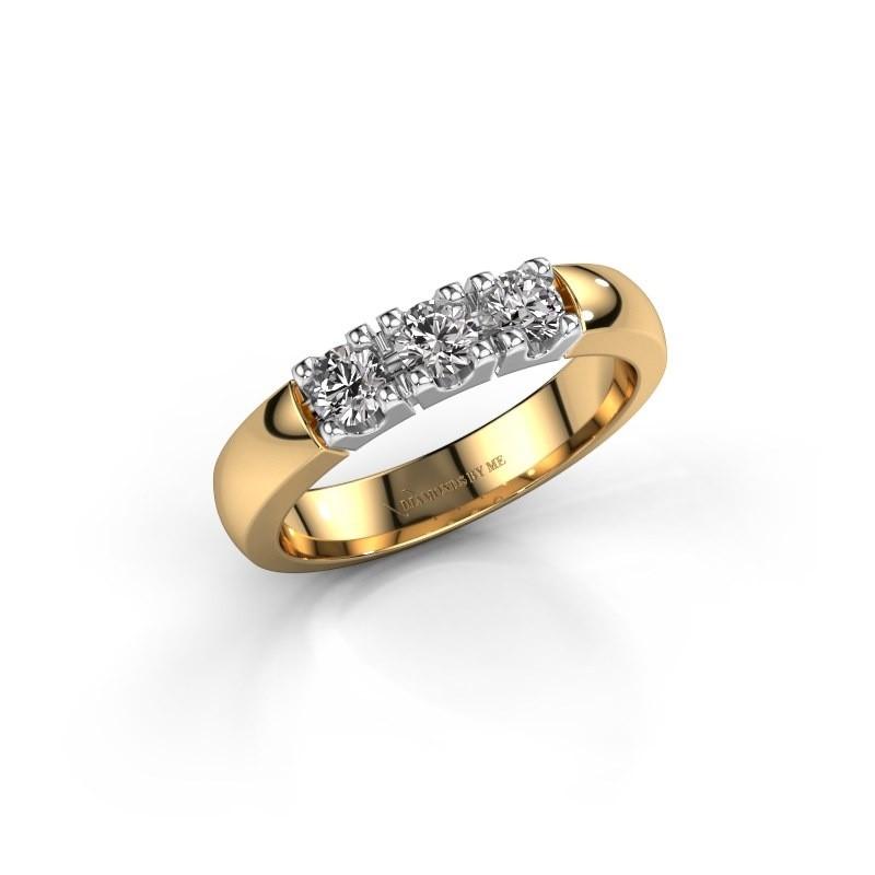 Verlovingsring Rianne 3 585 goud diamant 0.450 crt