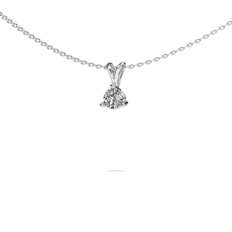 Hanger Somer 585 witgoud diamant 0.25 crt