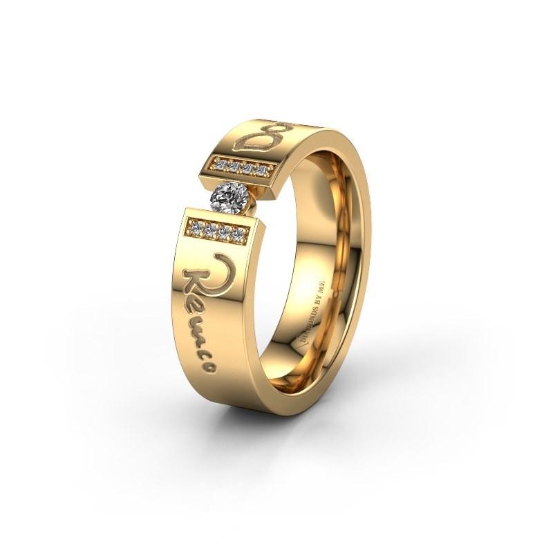 Trouwring WH2094L16C 585 goud ±6x2.2 mm
