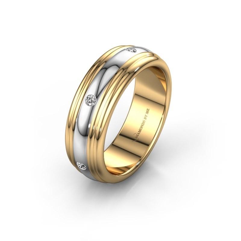 Trouwring WH2236L 585 goud diamant ±6x2.2 mm