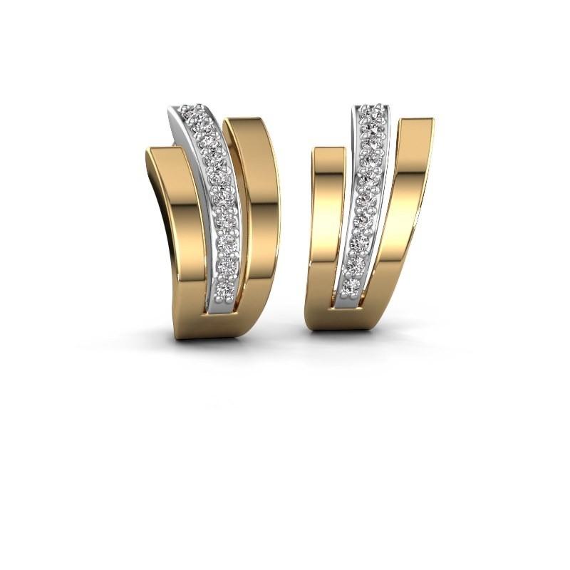 Oorbellen Emeline 585 witgoud diamant 0.20 crt