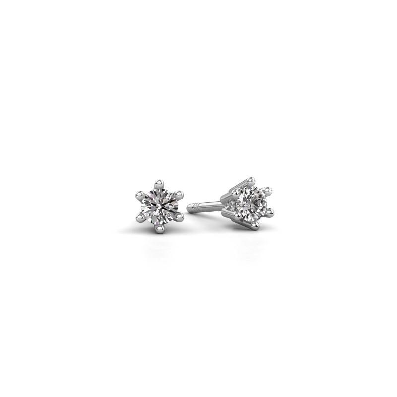 Oorbellen Fay 585 witgoud diamant 0.30 crt