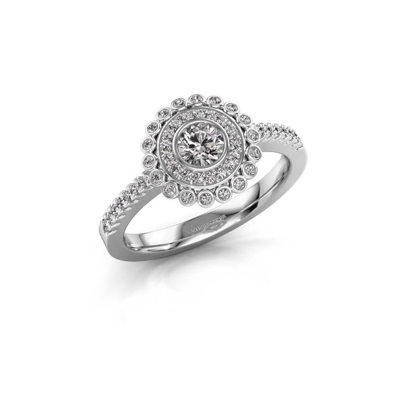 Verlovingsring Shanelle 585 witgoud diamant 0.646 crt