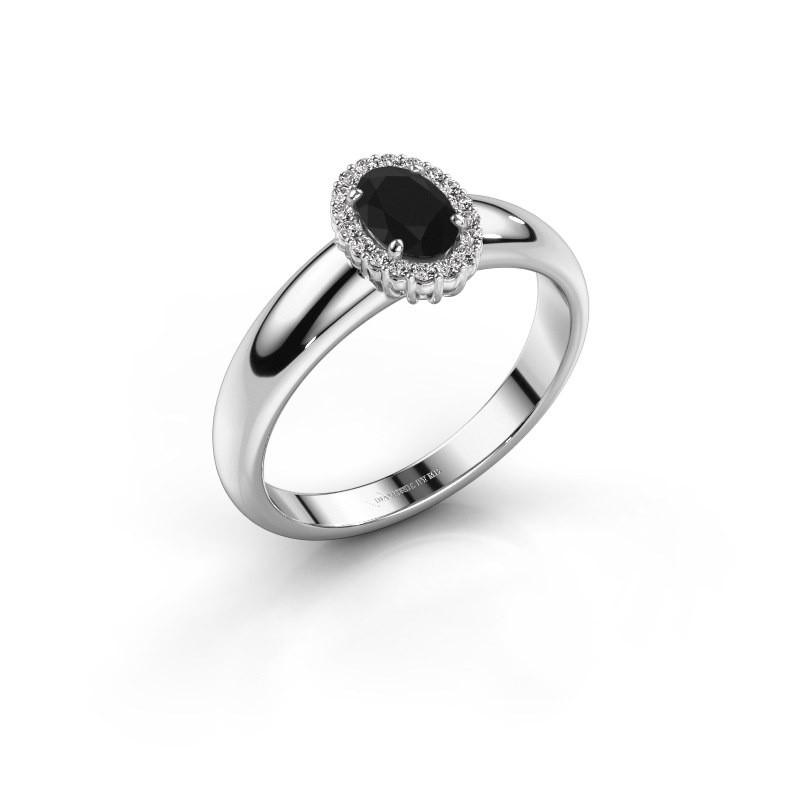 Verlobungsring Tamie 585 Weissgold Schwarz Diamant 0.69 crt