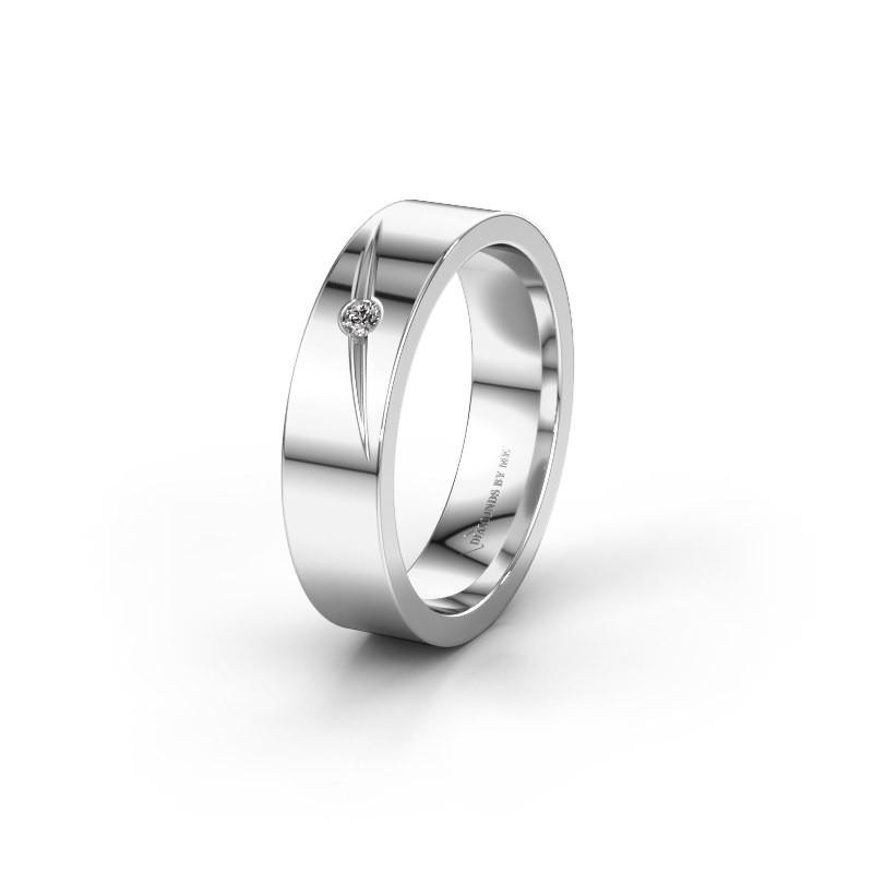 Trouwring WH0170L15A 925 zilver zirkonia ±5x1.7 mm