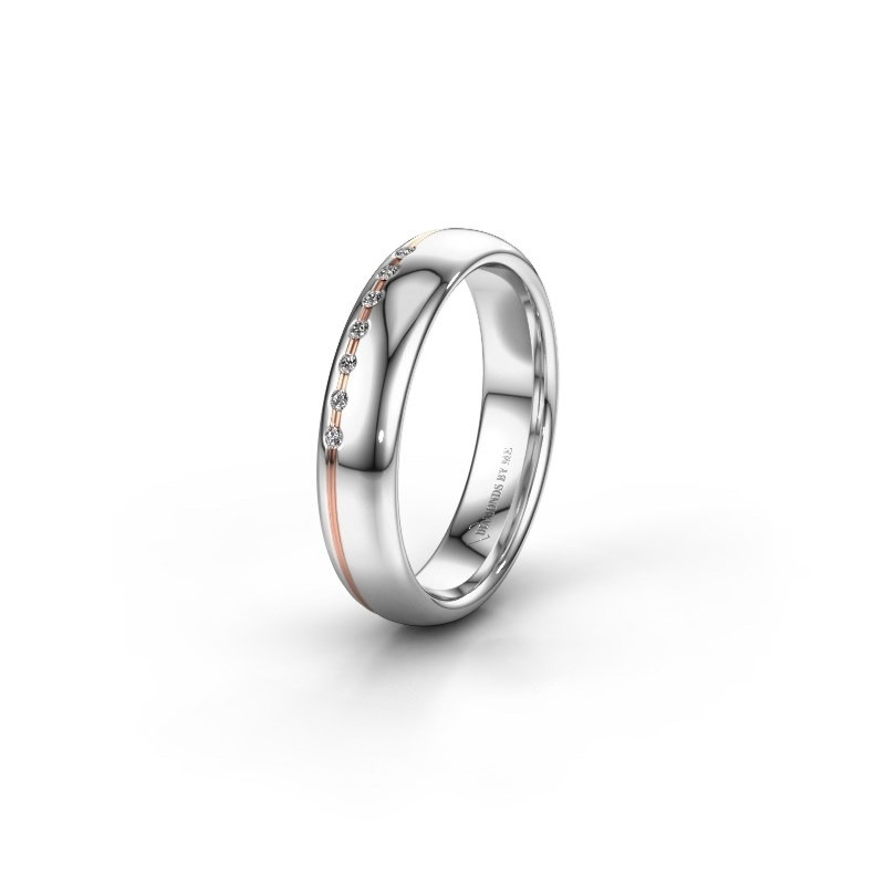Vriendschapsring WH2144L34A 585 witgoud diamant ±4x1.7 mm