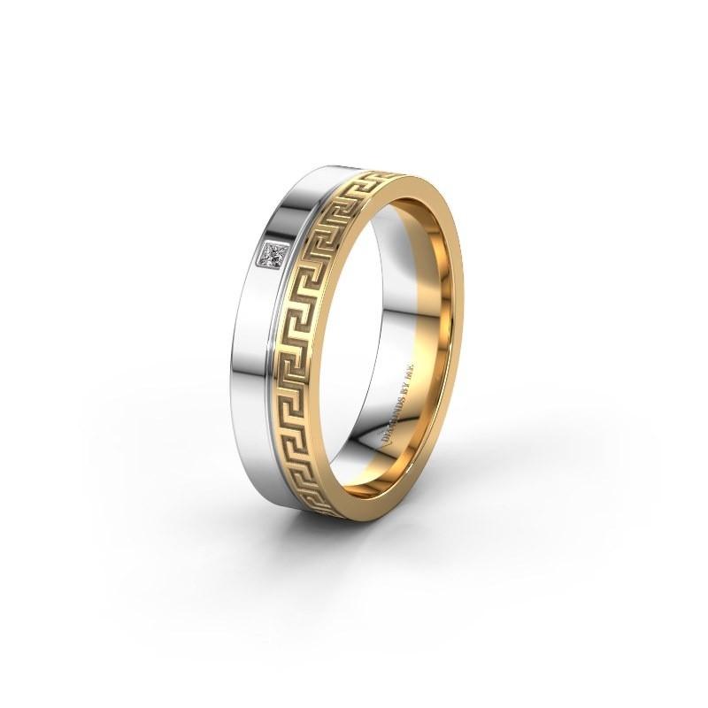 Huwelijksring WH0252L24X 585 goud diamant ±4x1.5 mm