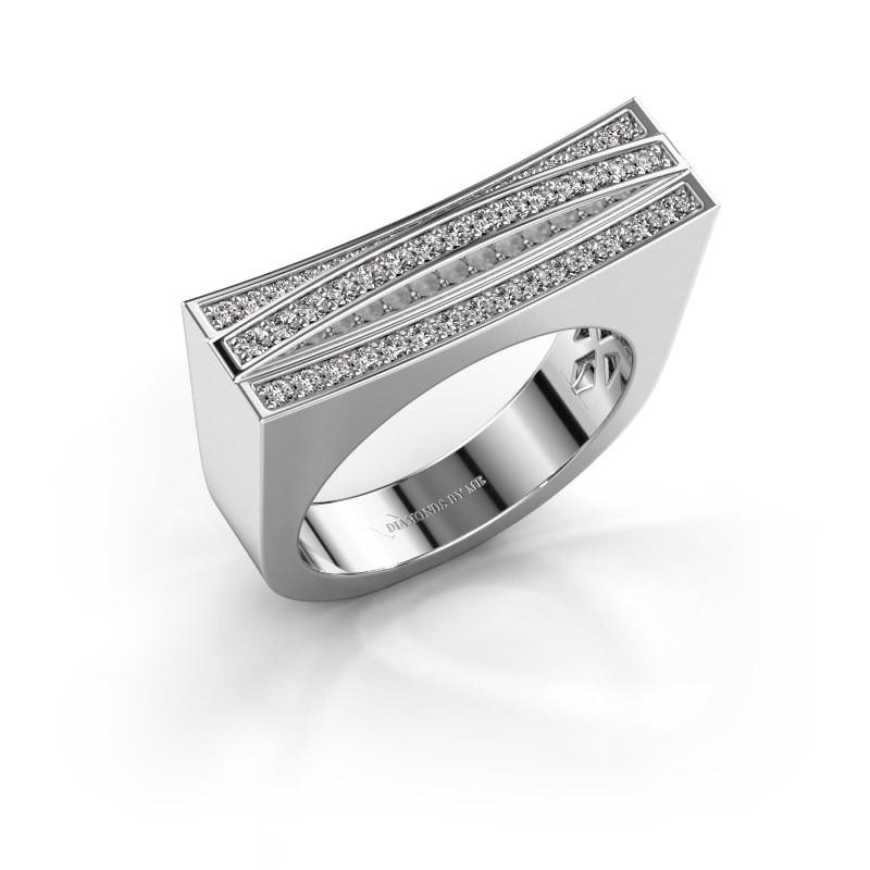 Ring Erma 585 witgoud diamant 0.338 crt