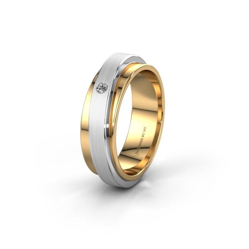Huwelijksring WH2220L16D 585 goud diamant ±6x2.2 mm