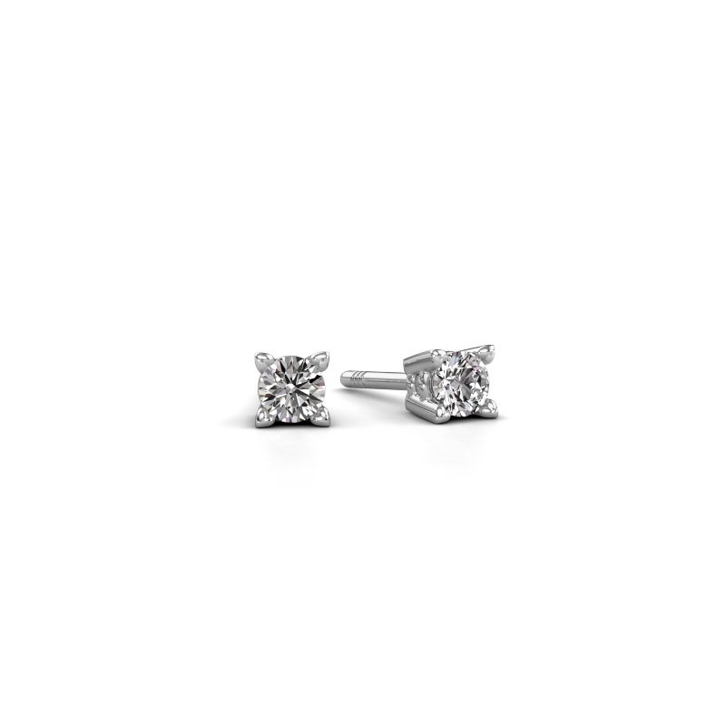 Oorknopjes Cather 585 witgoud diamant 0.40 crt