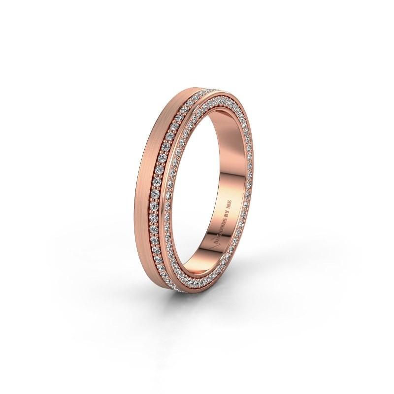 Trouwring WH2214L15BM 585 rosé goud zirkonia 1 mm ±5x2 mm