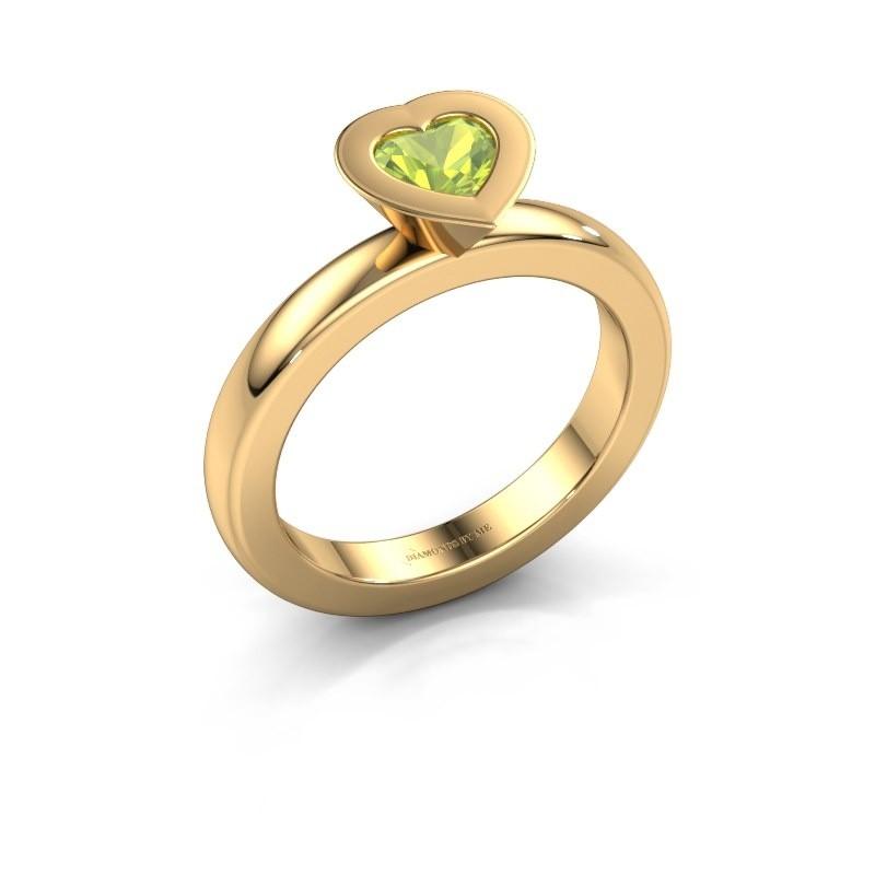 Stapelring Sindy Heart 585 goud peridoot 5 mm