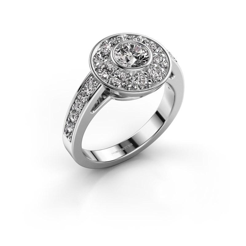 Verlovingsring Raven 2 585 witgoud diamant 1.35 crt