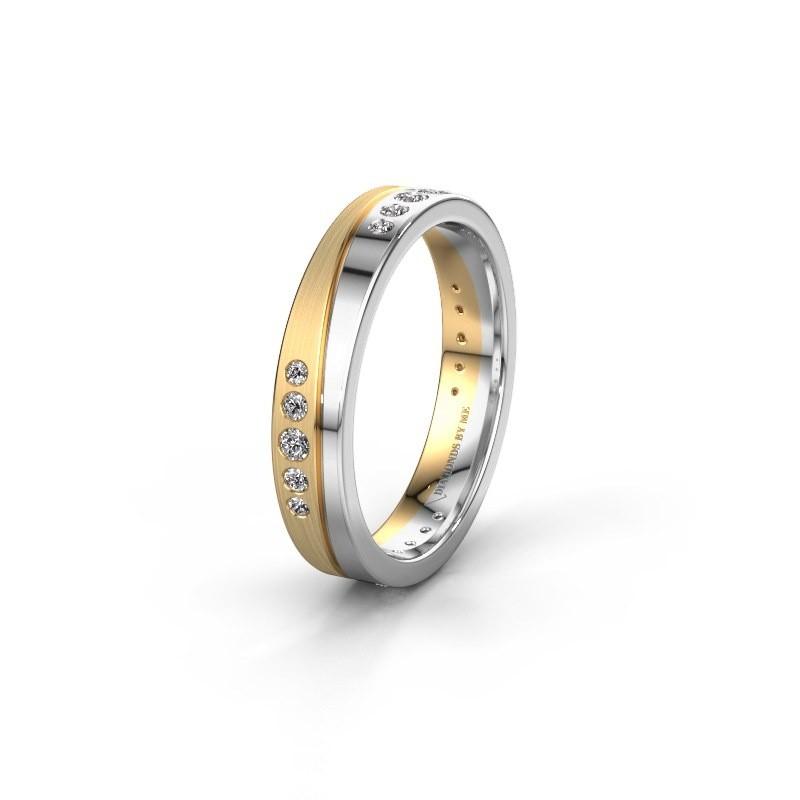 Trouwring WH0901L14A20PM 585 goud diamant ±4x1.7 mm