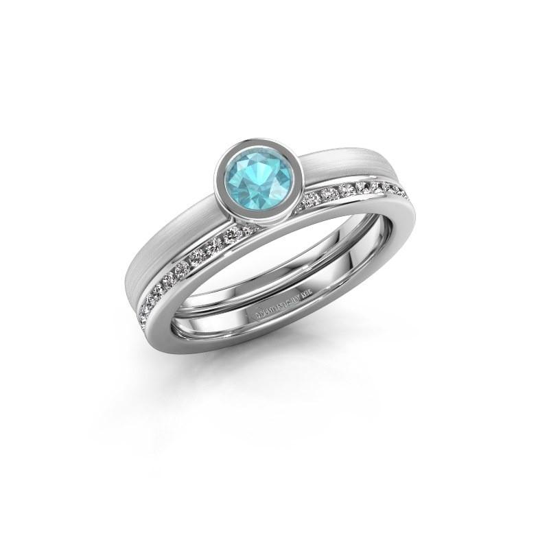 Abbildung von Ring Cara 585 Gold Blau Topas 4 mm