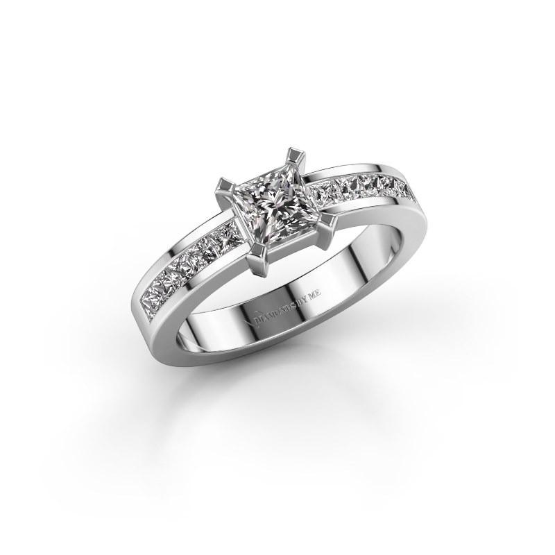 Verlovingsring Emilia 585 witgoud diamant 1.00 crt