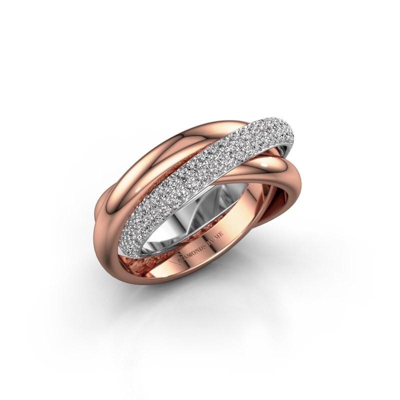 Ring Helena 2 585 witgoud diamant 0.885 crt