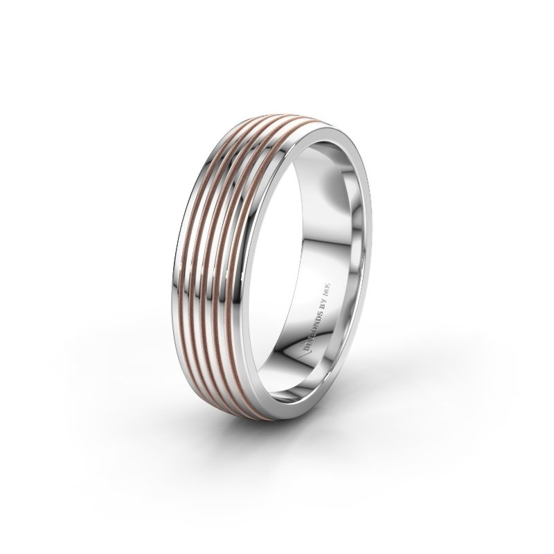 Trouwring WH0150M26A 585 witgoud ±6x1.7 mm