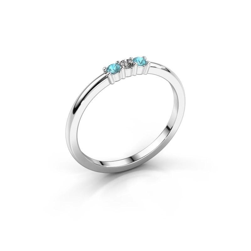 Verlovings ring Yasmin 3 585 witgoud diamant 0.03 crt