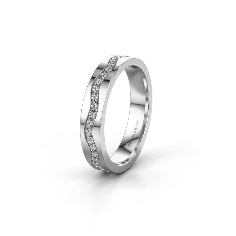 Trouwring WH0803L14AP 585 witgoud diamant 0.44 crt ±4x1.7 mm