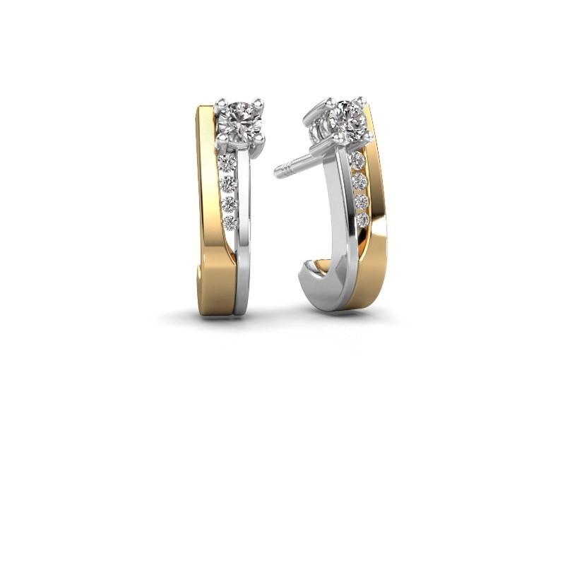 Oorbellen Jewell 585 goud diamant 0.218 crt