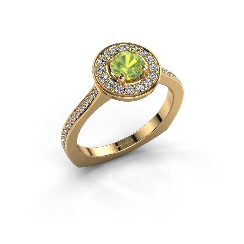 Ring Kanisha 2 585 goud peridoot 5 mm