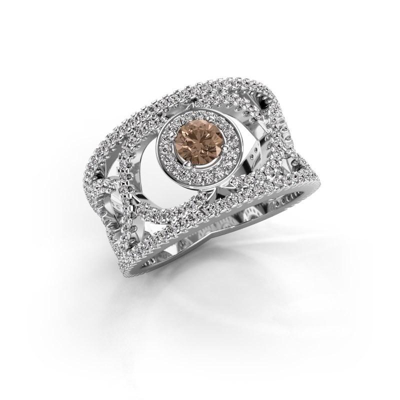 Ring Regina 585 Weissgold Braun Diamant 1.25 crt