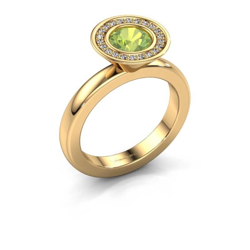 Stapelring Danille 585 goud peridoot 6 mm