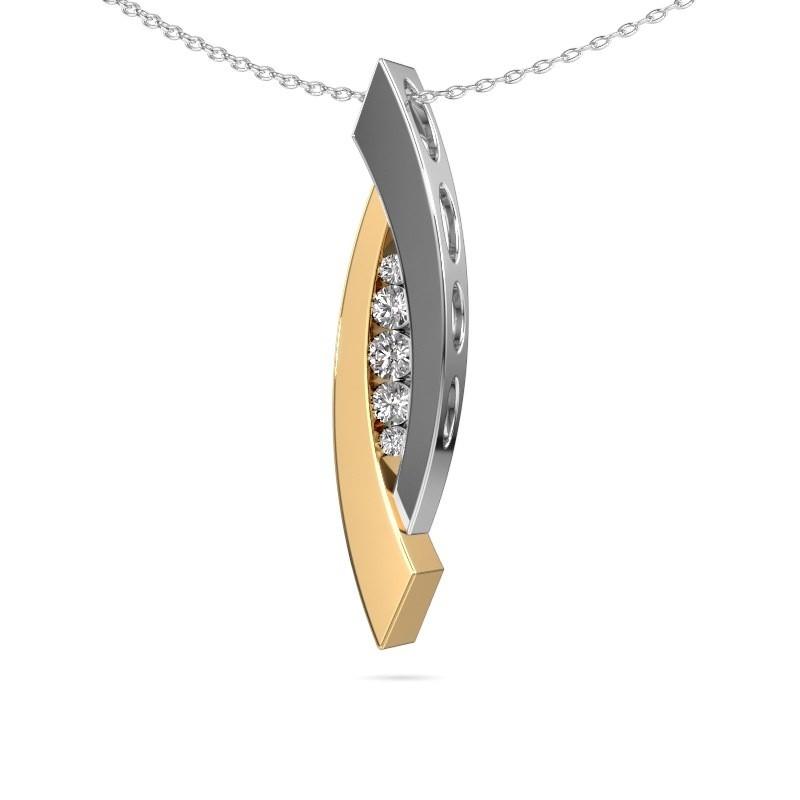 Hanger Joanie 585 goud diamant 0.25 crt