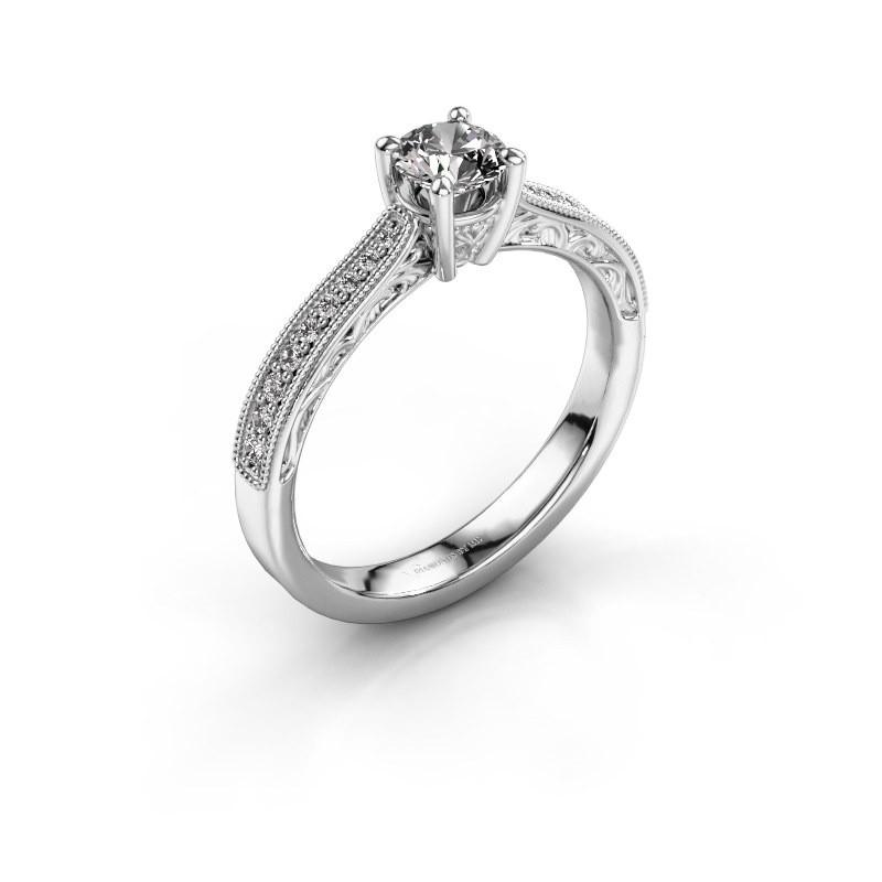 Belofte ring Shonta RND 585 witgoud diamant 0.53 crt