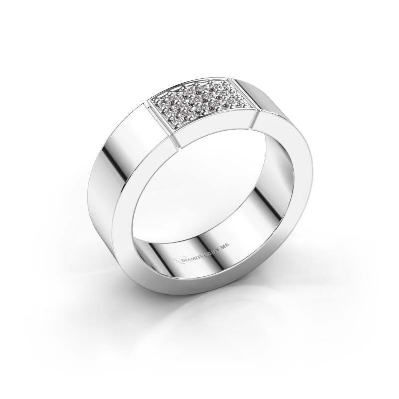 Ring Zoey 585 witgoud diamant 0.15 crt