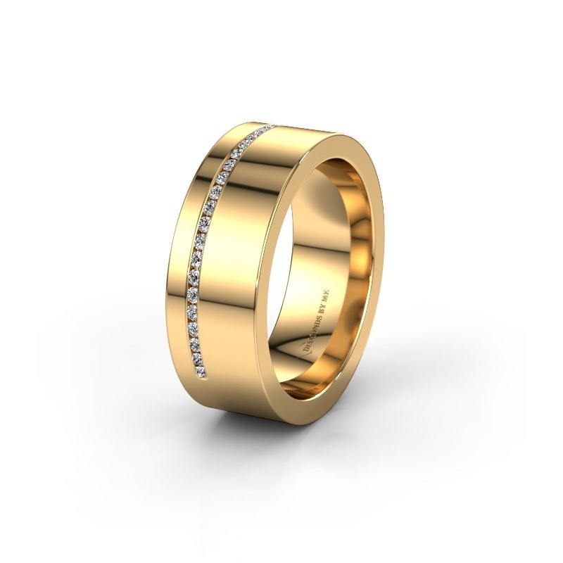 Trouwring WH0143L17BP 585 goud lab created ±7x2 mm