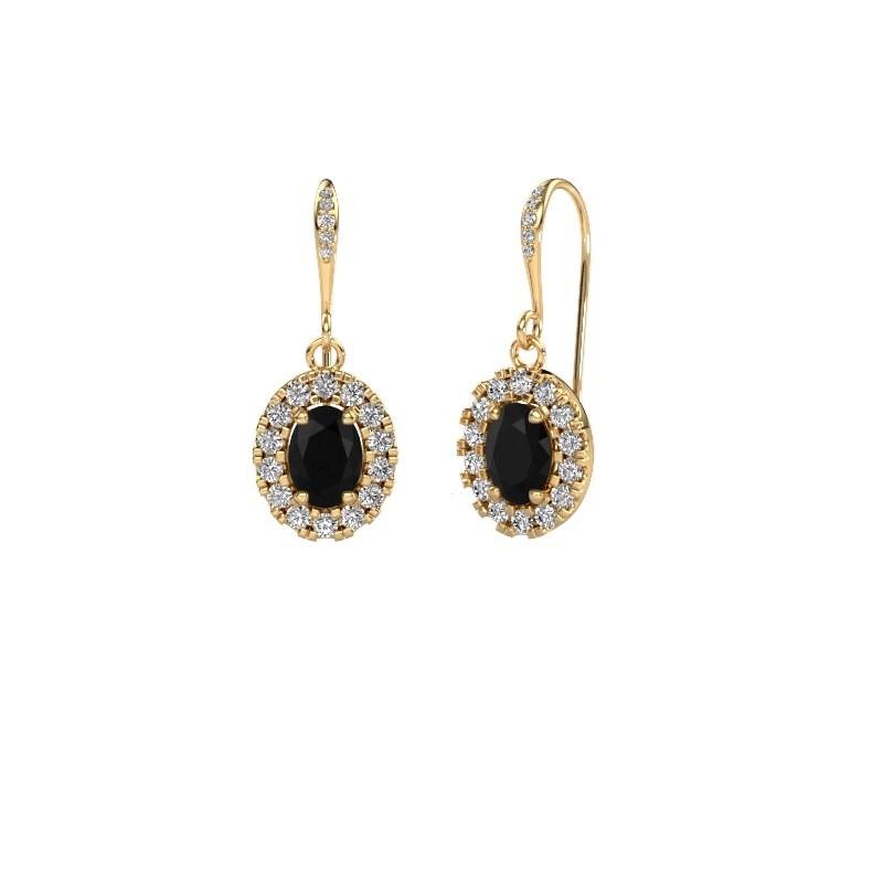 Ohrhänger Jorinda 2 585 Gold Schwarz Diamant 2.51 crt