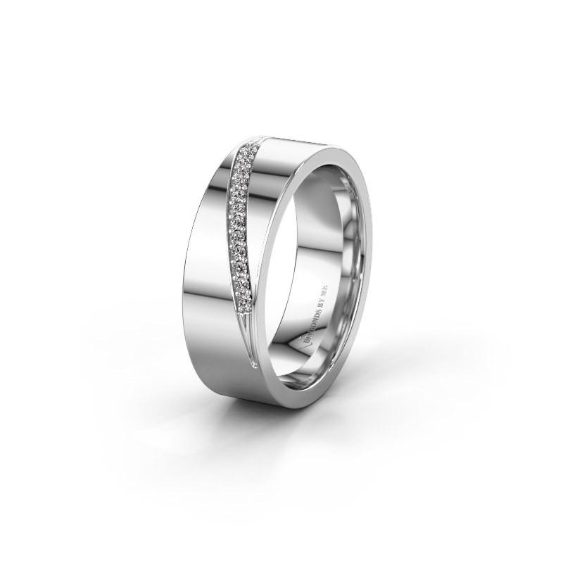 Trouwring WH2146L17A 925 zilver diamant ±7x1.7 mm