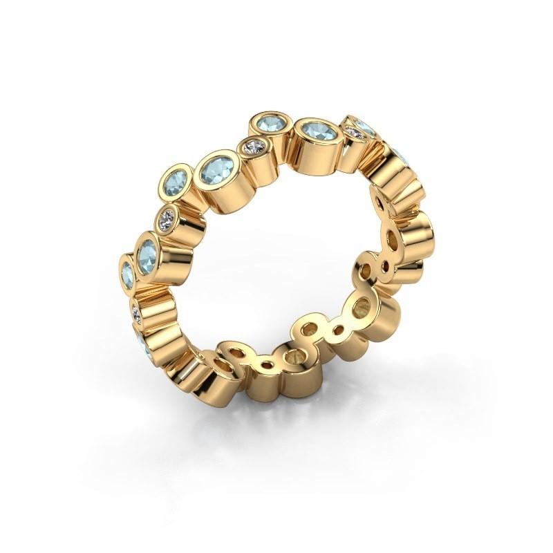 Ring Tessa 585 goud aquamarijn 2.5 mm
