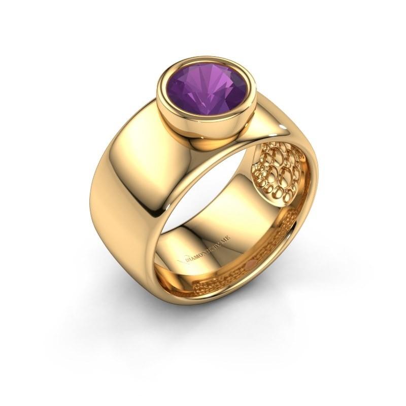 Ring Klarinda 585 goud amethist 7 mm