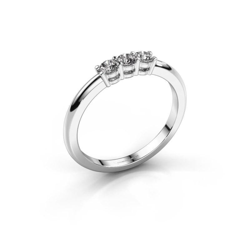 Verlovingsring Michelle 3 585 witgoud diamant 0.30 crt