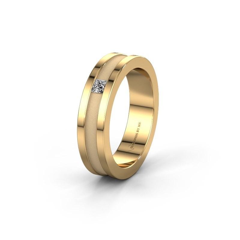 Trouwring WH2001L 585 goud diamant ±5x2 mm