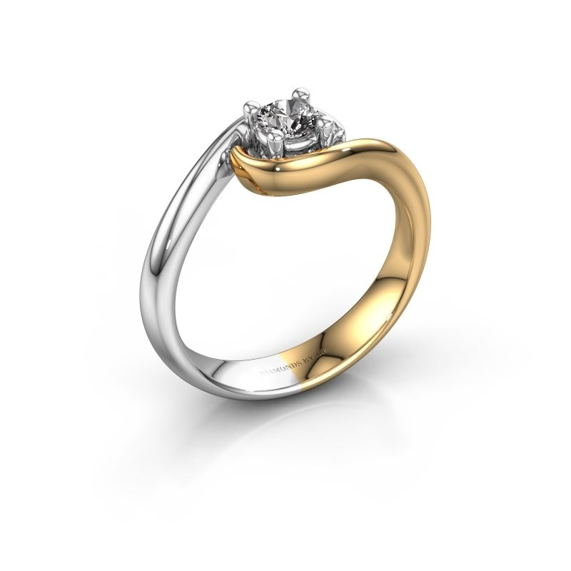 Ring Linn 585 goud diamant 0.25 crt