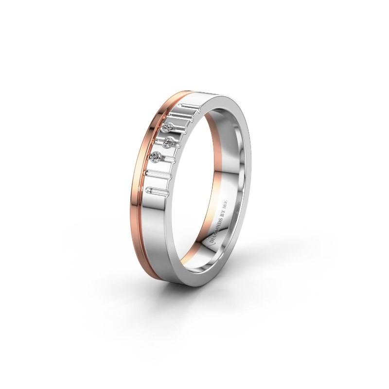 Vriendschapsring WH0332L14X 585 witgoud diamant ±4x1.5 mm