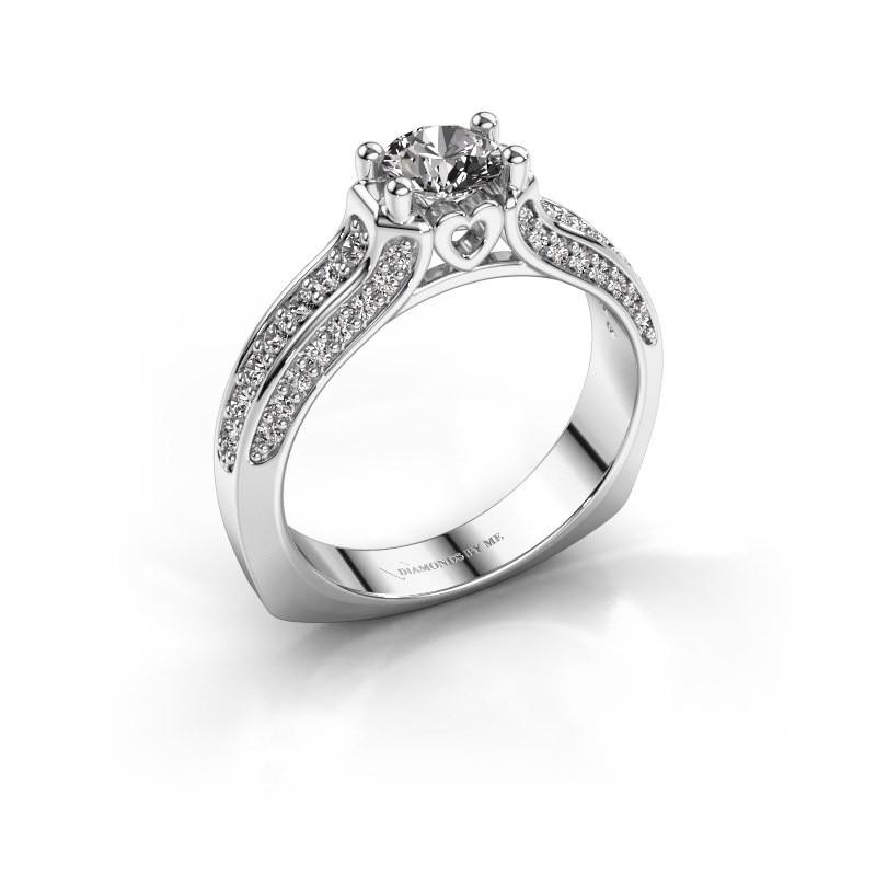 Weissgold Verlobungsring Mit 0 50 Crt Diamant Marion Handgefertigt